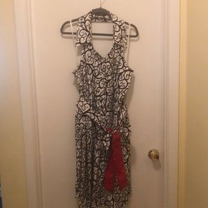 Collared halter dress